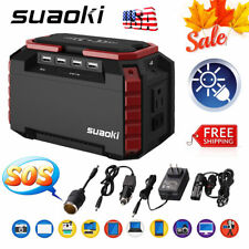 150Wh Suaoki Energy Tank Generator Supply Solar Charge 3 USB LED SOS Flashlight