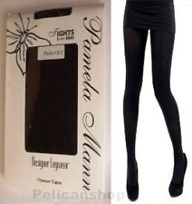 2 X TIGHTS BLACK OPAQUE NYLON TIGHTS 50 DENIER PAMELA MANN DESIGNER ONE SIZE