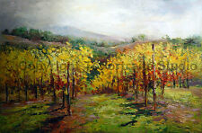 "The Vineyard, Original Scenery Hand Painted Oil Painting on Canvas, 36"" x 24"""