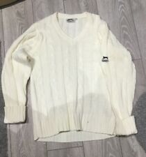 Crema Slazenger Maglione Medium M 10 12 Long Sweater