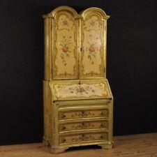 Scriban trumeau laqué commode bureau de pente secrétaire bois style ancien 900