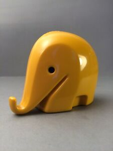 Kleiner Drumbo Colani Dresdner Bank Spardose Elefant gelb Vintage Design 6x9cm