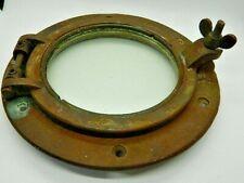 """Antique/Vintage Ship Bronze Porthole 10"""" Round 6"""" window Nice Patina"""