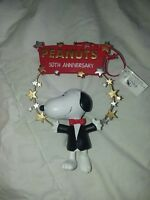 Peanuts Snoopy Stars 50th anniversary Christmas Ornament