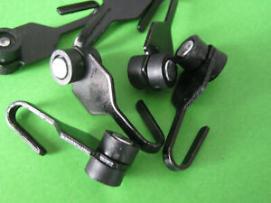 Railed Black Metal Hooks with Wheels for Gazebo Curtains or Mosquito Netting