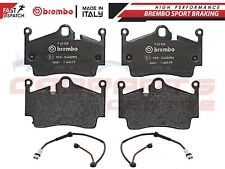 FOR PORSCHE BOXSTER 987 CAYMAN 718 REAR GENUINE BREMBO PADS PAD SET WIRE SENSOR