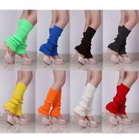 Women Winter Warm Leggings Knit Crochet High Knee Leg Warmers Boot Socks Slouch