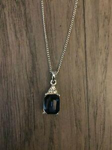 Jon Richard Blue Stone Necklace Pendant NEW