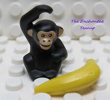 Lego Animal Chimpanzee Baby Monkey Banana - New