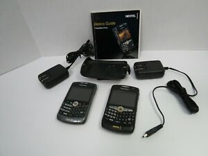 Nextel Sprint Blackberry 8350i Curve 2 Cellphones Bundle Parts Only