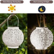 Solar Power LED Lantern Outdoor Hanging Lamp Garden Lawn Landscape Light