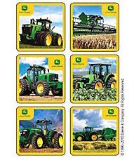 18 John Deere Farm Barnyard Fun Tractor  Stickers Party Favors Teacher Supply