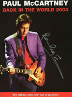 PAUL McCARTNEY ~ Genuine Hand Signed AUTOGRAPH on Tour Programme ~ AFTAL REG'D