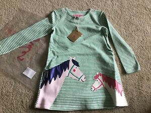 💝**REDUCED**JOULES GIRLS GREEN STRIPE DRESS.AGE 1. BNWT. COST £29.95💝