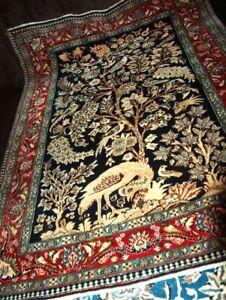 Perserteppich H.geknüpft Ghom Seide Carpet Rug sauber sehr guten Zustand Kork