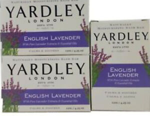 Yardley English Lavender Soap 120g Bar X3