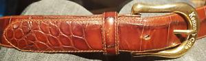 Kenneth Cole Designer New York Men's Italian Calf Leather Solid Brass Buckle
