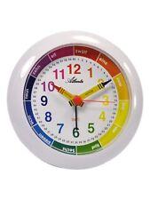 Atlanta Despertador Niños Blanco Reloj De Aprendizaje cuarzo para 1265/0 NUEVO