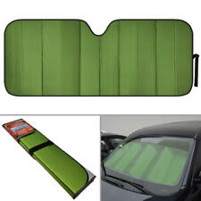 Large Dual-Layer Car Auto Sun Shade Windshield Protector - Motor Trend Green