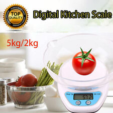 Electronic Digital 2KG/5KG Kitchen Cooking Blue+White With Bowl Weighing Scales