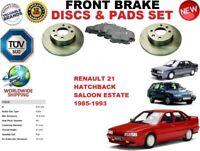 Per Renault 21 Berlina Hatchback Solidio Anteriore Dischi Freno Set + Pads Kit
