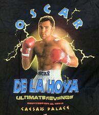 vtg Oscar de la Hoya Boxing T-Shirt Large Caesars Palace 1998 Authentic XXL