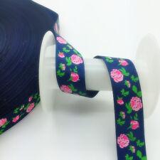 DIY 5 Yards 3/4'(20mm)Wide Sewing Printed Grosgrain Ribbon Hair Bow Sewing SKT04
