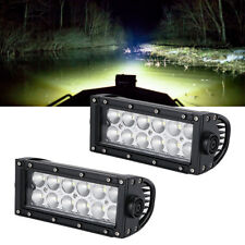 2x 7INCH 36W LED WORK LIGHT BAR FLOOD FOG DRIVING OFFROAD 4WD Chevrolet Dodge