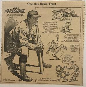 "1939 newspaper panel ""One-Man Brain Trust"" - Bill McKechnie Cincinnati Reds"