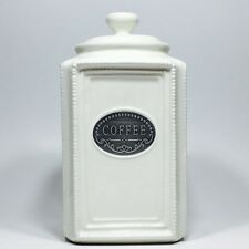 THL Beaded Shabby Chic Coffee Canister With Lid
