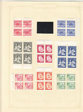 Canada Early Christmas sets  in blocks of four MH