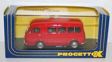 Progetto K 1/43 Scale pk340b-Fiat 238 MINIBUS Stradale 1965 Rosso Red