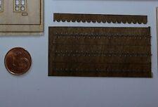 20x Mansonia Miniatur Holzschindeln in  Streifen 5,6 cm Zubehör Puppenhaus 1/144