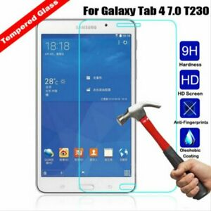 100% Real Tempered Glass 2 PC Screen Protector for Samsung Galaxy TAB 4 7 T230