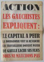 MAI 1968 Revue ACTION n°34 - 26 novembre 68 - Gauchistes Le Capital a peur