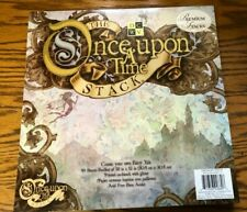 NEW DCWV THE ONCE UPON A TIME STACK SCRAPBOOK  PAPER 48 SHEETS 12 X 12 W GLITTER