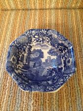 COPELAND SPODE'S Italien Bleu & Blanc Petits octogonale Chine Footed Bowl