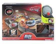 New Disney Pixar Cars Mini Racers Crank and Crash Derby Playset