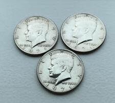 1971 Kennedy Half Dollar Silver Coins Lot of 3