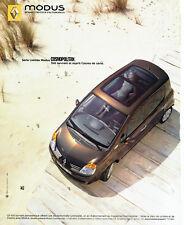Publicité advertising 118  2005   Renault  la Modus Cosmopolitan toit ouvrant