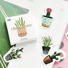 Funny 45pcs Pot Cultured Green Plants Label Stickers DIY Diary Album Stick Label