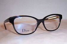 NEW CHRISTIAN DIOR EYEGLASSES CD MONTAIGNE 3 G99 BLACK 52mm RX AUTHENTIC