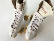 Chicago Womens White Classic Rink Roller Skates Sz 6 High Top Lace Up Pc6