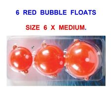 6 MEDIUM RED BUBBLE FLOATS FOR SEA COARSE GAME CARP TROUT PIKE FLOAT ROD FISHING