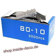 5.000 Tackerklammern Typ 80/380 - 10mm Heftklammern verzinkte Klammern f. Tacker