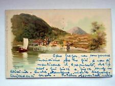 COMO lago ARGEGNO Prosdocimi illustratore vecchia cartolina