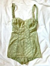 1950s Original Rose Marie Reid of California Swimsuit/Bathing Suit Green As Is