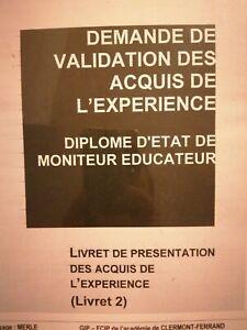 Livret 2 Vae MONITEUR ÉDUCATEUR+dossier oral
