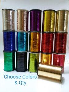 Lurex Embroidery Thread Yarn Spool Silver Gold Metallic Thread 5000 Meter each
