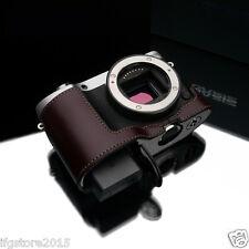 New GARIZ Samsung NX500 Leather Half Case Brown For Samsung NX500 Camera Case